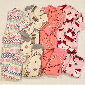 Lot of toddler girl pajamas, 2T